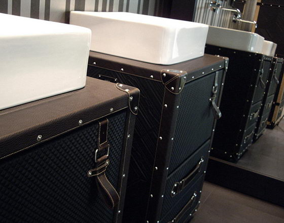 Unusual Luggage Suitcases Inspired Bath Furniture