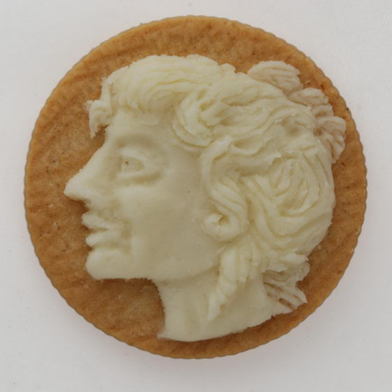 Classic Roman Portraits Carved on Oreo Cookie