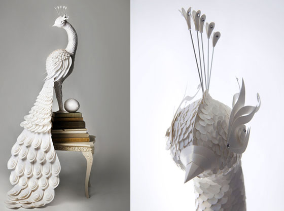 Incredible Bird Paper Sculpture by the Makerie Studio