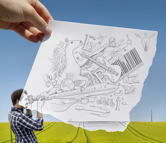 Ben Heine: Pencil Vs Camera Series 3