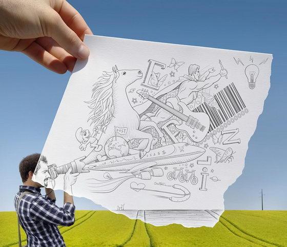 Ben Heine: Pencil Vs Camera Series 3