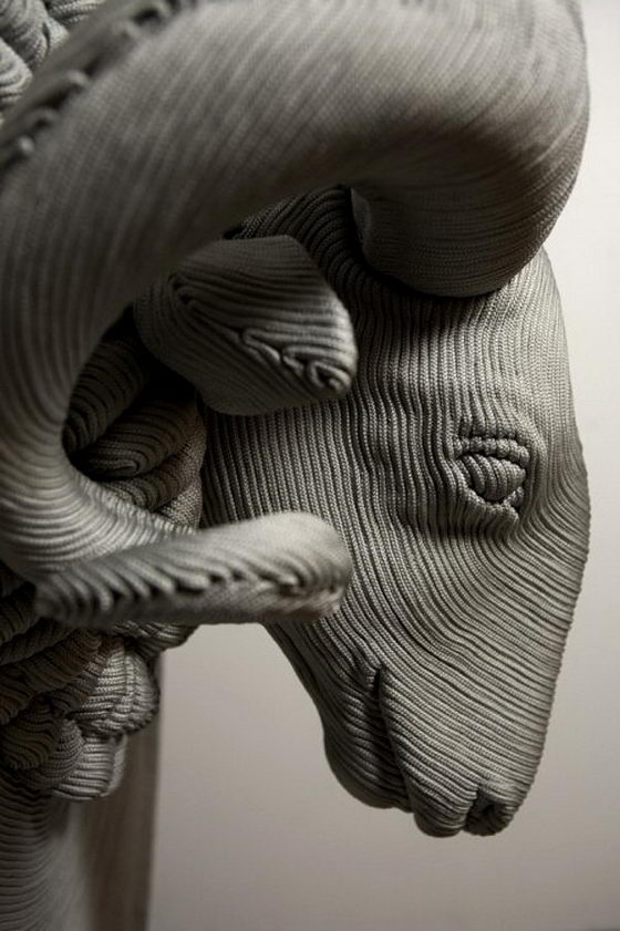 Unusual 3D Rope Sculptures by Mozart Guerra