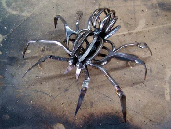 Unusual Scissor Spiders by Christopher Locke