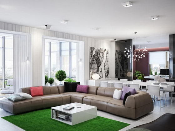 Modern and Elegant Ukrainian apartment Rendering