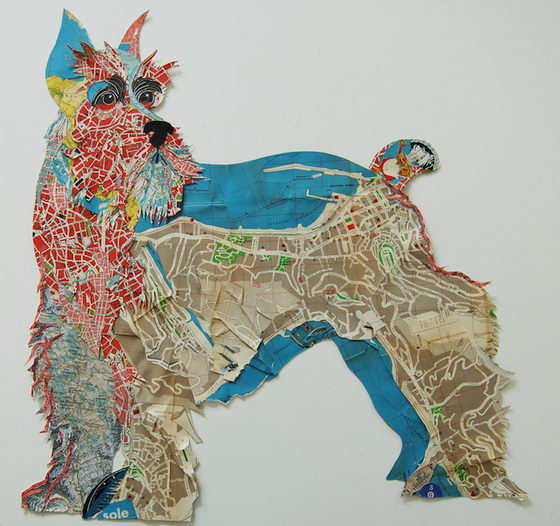 Creative Dog Collages Made by Peter Clark