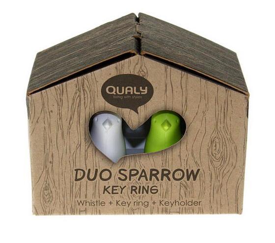 Sparrow Key Ring - Cute Birdhouse Key Ring