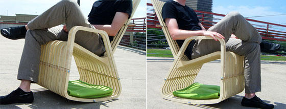 Rocking-2-Gether Chair: Innovative Rocking Chair for You and Your Pets