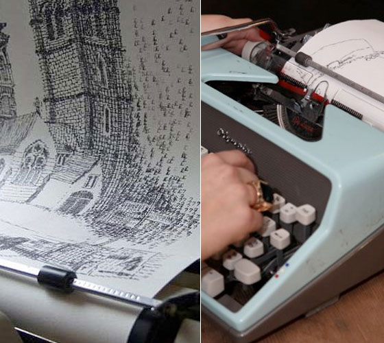 Incredible Typewriter Drawing by Keira Rathbone