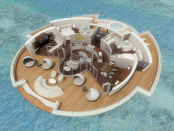 Fantastic Solar Floating Resort by Michele Puzzolante