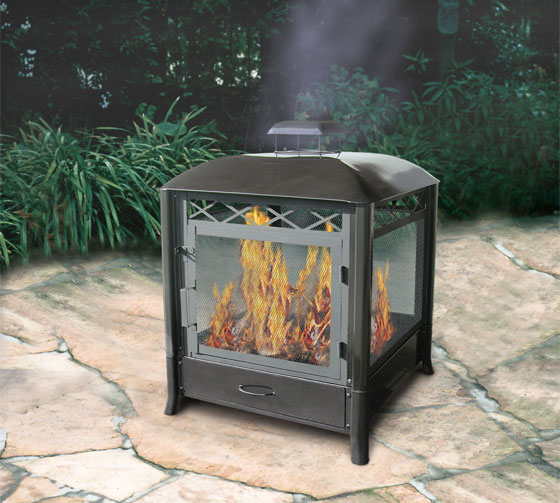 10 beautiful outdoor fireplaces and fire pits design swan for Alcohol fire pit