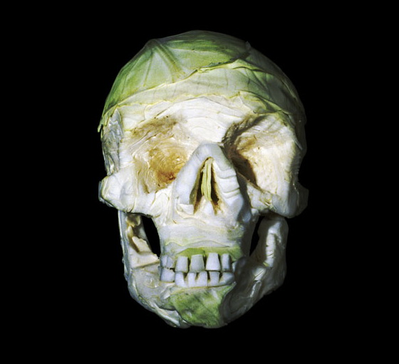 Horrific Skulls Carved out of Vegetables and Fruit