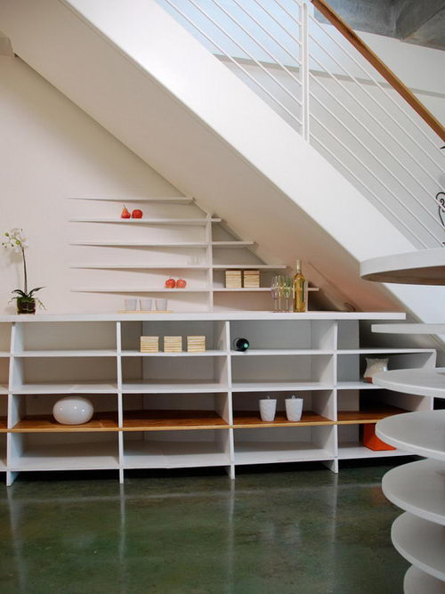 30 Creative Ideas for Maximizing Storage Space around Stair