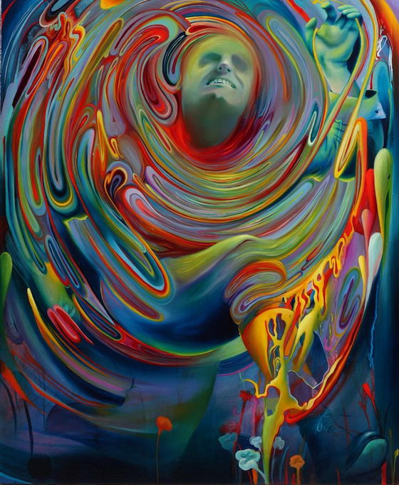 Mythical Painting Created by Swirls of Color
