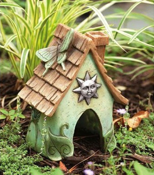 Painted Garden Toad Houses