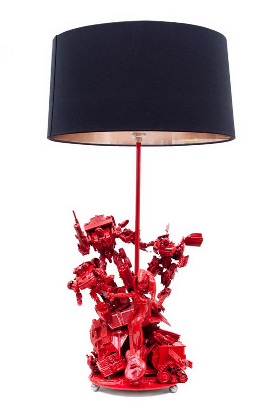 Amazing Sculpted Bespoke Lamps by Evil Robot Designs
