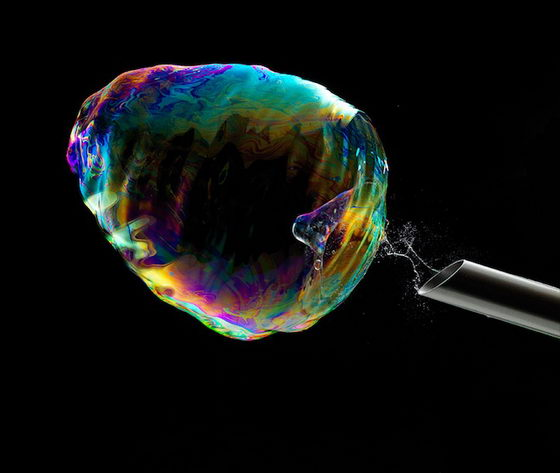 Incredible Soap Bubbles Bursting Photography by Fabian Oefner