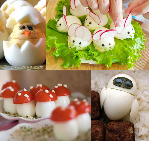 12 Cute Boiled Egg Creation Design Swan