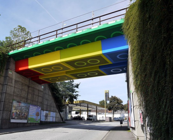 Giant Lego Bridge in Germany by Megx