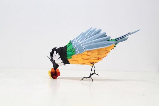 Beautiful and Colorful Paper Birds by Diana Beltran Herrera