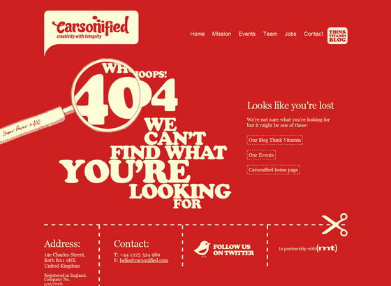 27 Creative and Original 404 Error Page Design II