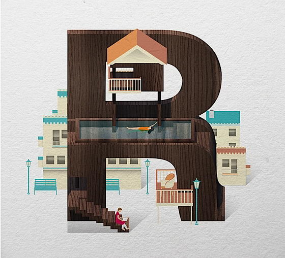 Resort Type: Creative Typography Project by Jing Zhang