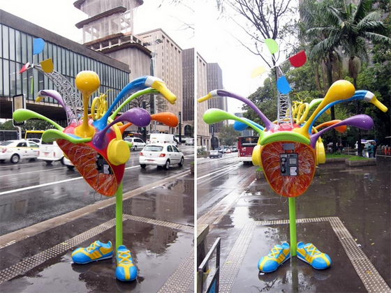 Call Parade: 100 Uniquely Designed Phone Booths in São Paulo