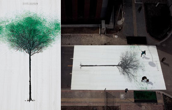 Green Pedestrian Crossing: a Creative Outdoor Environment Protection Campaign