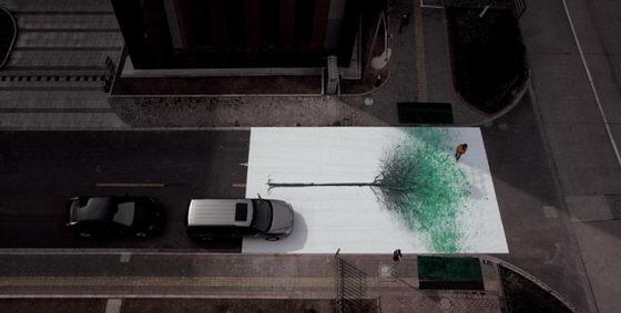 Green Pedestrian Crossing: a Creative Outdoor Environment Protection Campaign