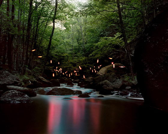 Surrealistic Landscape Light Installation by Barry Underwood