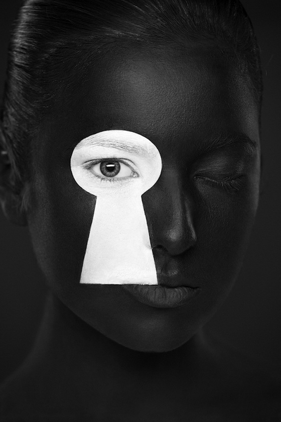Weird Beauty: Stunning Black and White Face Art by Alexander Khokhlov