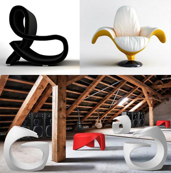 Rocking chair design swan