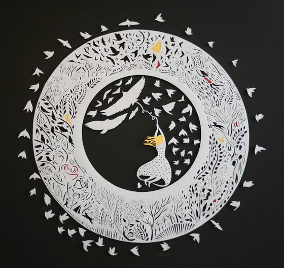 Fairy Tales and Childhood Inspired Paper Art by Sarah Dennis