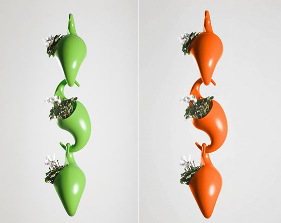 Monkey Pots: Playful Stack-able Plant Pots by Adam Cornish