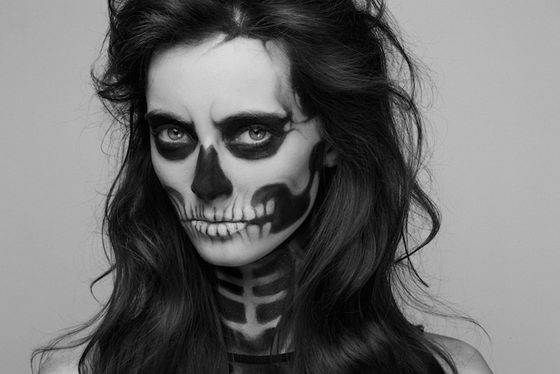 She Has Waited Too Long: Skeleton Makeup Girl by Pauline Darley ...