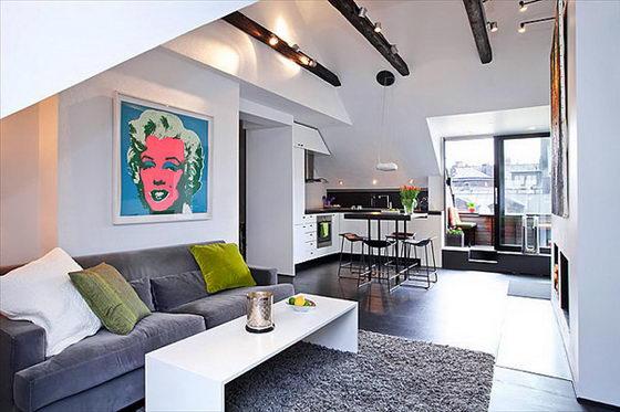 Space-efficient Lovely 54 Sqm Scandinavian apartment Design – Design ...