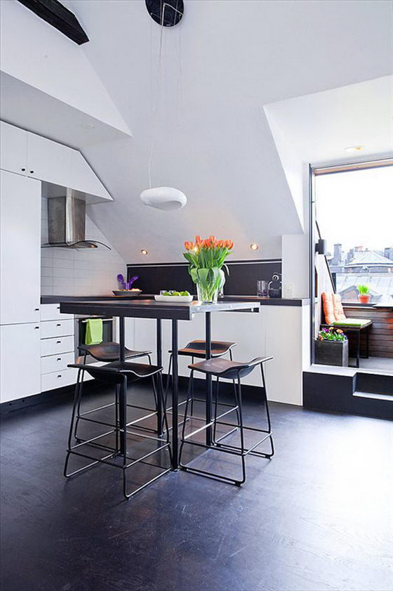 Space-efficient Lovely 54 Sqm Scandinavian apartment Design