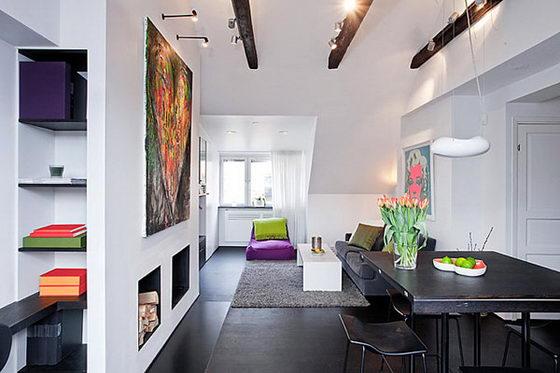 Space-efficient Lovely 54 Sqm Scandinavian apartment Design