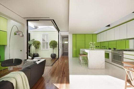 Shakin Stevens House: Modern Meets Victorian House in Green Tone