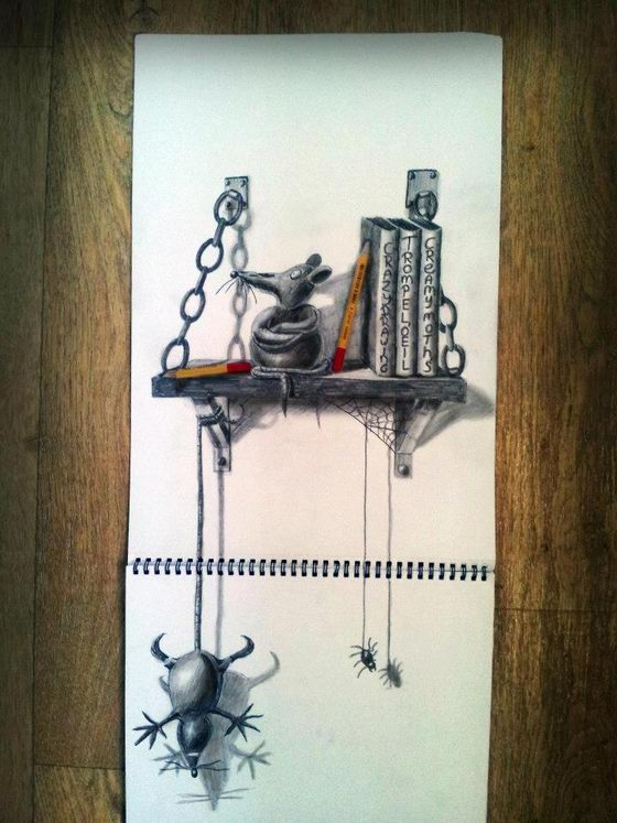 Optical Illusion: 3D Drawing by Ramon Bruin