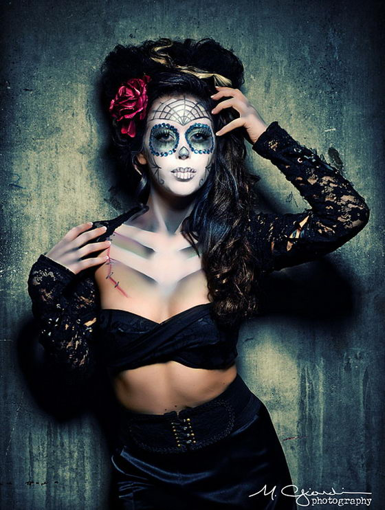 17 Amazing Día de los Muertos Sugar Skull Make-up Art