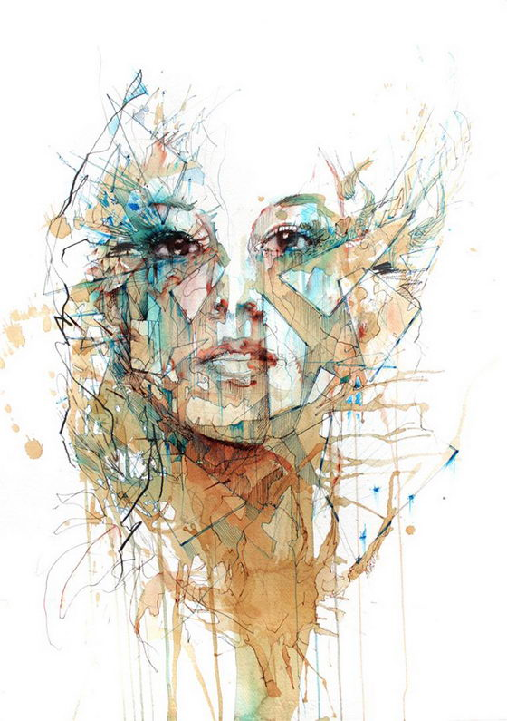 Fragments: Portraits Drawn in Ink and Tea by Carne Griffiths