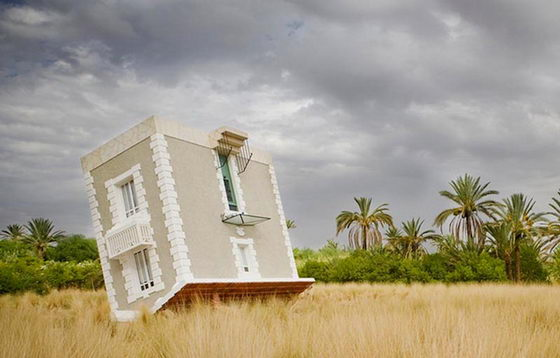 Fallen from the Sky: Whimsically Upside Down House