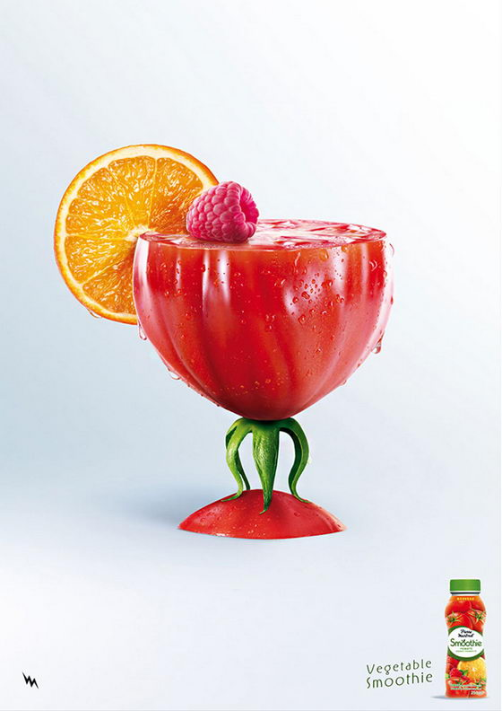 Vegetable Cocktails: Creative Vegetable Smoothie Campaign
