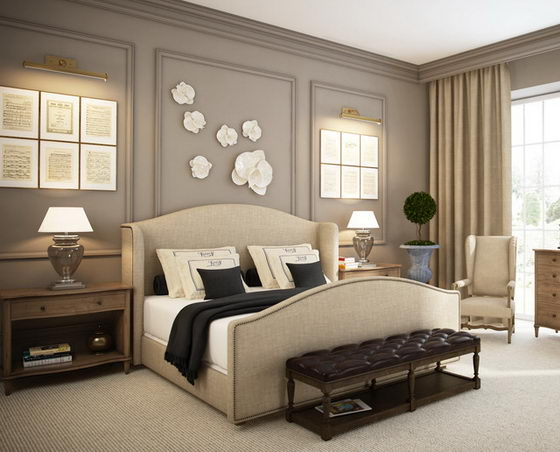 22 beautiful and elegant bedroom design ideas design swan for Bedroom ideas elegant