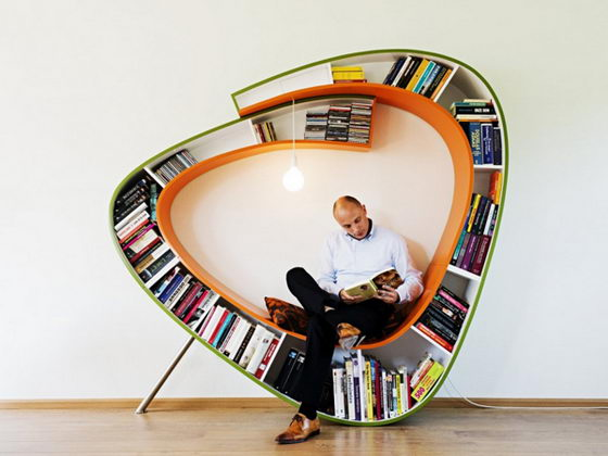 Bookworm: a Creative Bookcase by Atelier 010