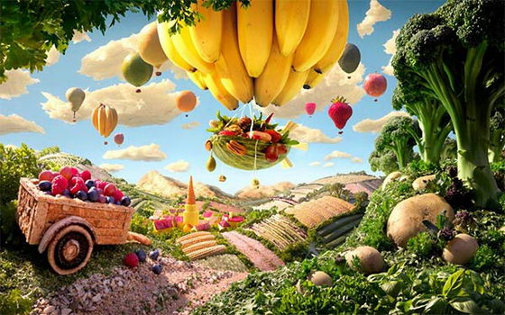 Foodscape: a Dreamy World of Food by Carl Warner