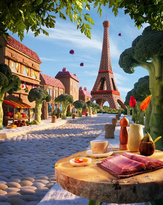 Foodscape: a Dreamy World of Food by Carl Warner
