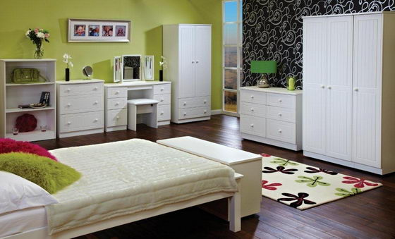 16 beautiful and elegant white bedroom furniture ideas Small bedroom furniture ideas