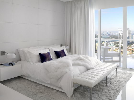 lovely black white modern bedroom | 16 Beautiful and Elegant White Bedroom Furniture Ideas ...