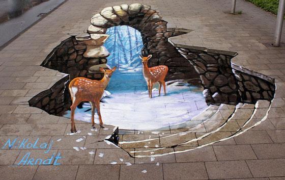 Optical Illusion: Fascinating 3D Art by Nikolaj Arndt